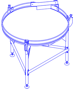 Накопительный стол, чертеж 1