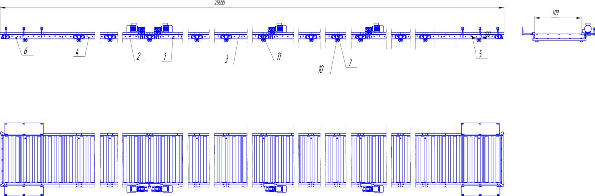 Рольганги приводные чертеж конвейеры транспортеры производство